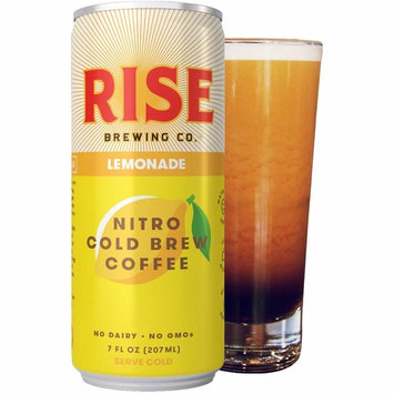 RISE Brewing Co. | Lemonade Nitro Cold Brew Coffee (12 7 fl. oz. Cans) - Gluten & Dairy Free | Organic, Non-GMO, Vegan Ingredients | Clean Energy, Low Acidity & Slightly Sweet | 30 Calories