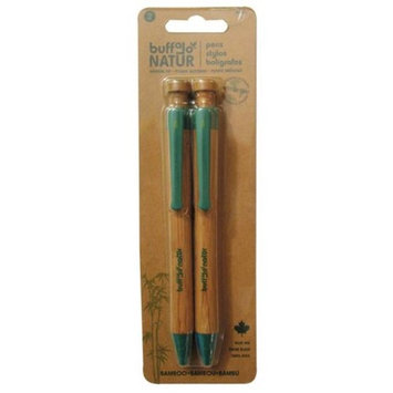 Buffalo Original Inc 40010 Buffalo Original Inc 40010 Blue Bamboo Pens 2 Count