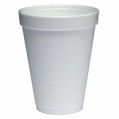 Dart Foam Cup 12 oz White, Case of 1000 12J12