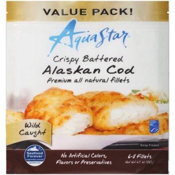 Aqua Star Crispy Battered Alaskan Cod Fillets, 20 oz