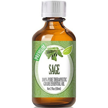 Healing Solutions - Sage Oil (60ml) 100% Pure, Best Therapeutic Grade Essential Oil - 60ml/2oz