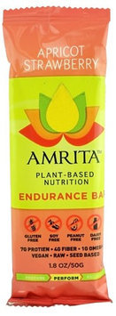 Amrita Health Foods Endurance Bar Apricot Strawberry 1.8 oz - Vegan