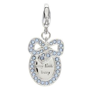 Swarovski Blue Crystal BABY MEDAL BOY Small Charm MY LITTLE BOY #1109771