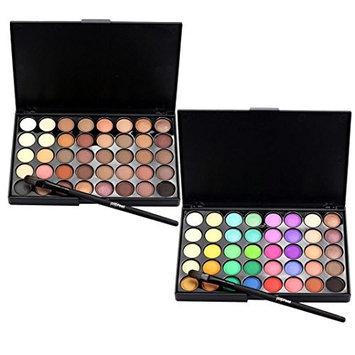 Mandy 40 Color Cosmetic Matte Eyeshadow Cream Makeup Palette Shimmer Set+ Brush Set