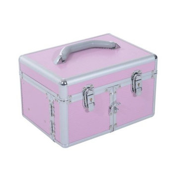Soozier 3 Tier Lockable Cosmetic Makeup Train Case with Extendable Trays
