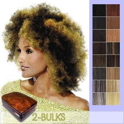 Vivica A Fox Hair Collection HKBK16L-V Human Hair Afro Curl Kinky Bulk Extension, 99J, 5.8 Ounce