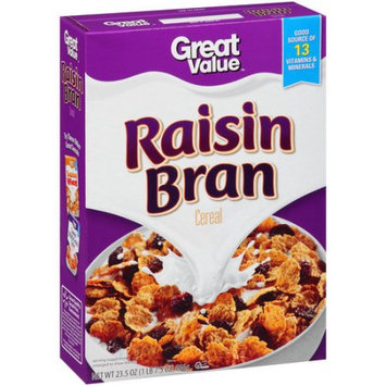 Wal-mart Store, Inc. Great Value Raisin Bran Cereal, 23.5 oz