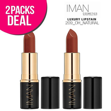 (2 PACK) IMAN Luxury Lip Stain, Lipstick (2257-Bare Bronze) : Beauty