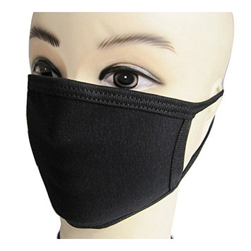 10 Pcs Pure Black Cotton Face Mask Mouth Mask Earloop Face Mask Anti-dust Mouth Mask Winter Mask for Outdoor Use