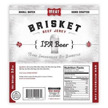 Meat Maniac Brisket Beef Jerky 3oz (IPA Beer Brisket Jerky)