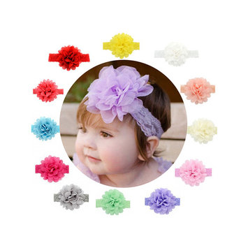 Baby Headband, Coxeer Baby Girls Ribbon Hair Bows Clips Lace Flower Headbands For Girls Kids 12 Pcs