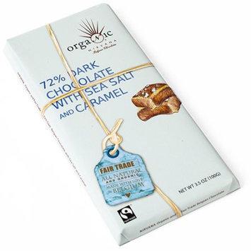Nirvana Chocolates Belgian Caramel Sea Salt 72per 100 (12x3.5 OZ)