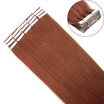 VANLINKE Seamless Skin Tape In Weft Remy Human Hair Extensions Ombre Hair 20pcs 16inch 30gr