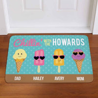Personalized Summer Chill Popsicle Doormat, Available in 2 Styles