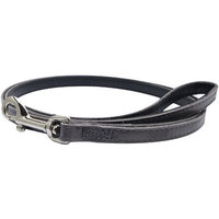 Dogit Leather Style Dog Leash, 48-Inch, Gray