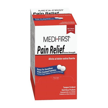 Pain Relief, Tablets, PK 500
