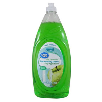Great Value Ultra Concentrated Dishwashing Liquid, Crisp Apple Scent, 40 fl oz