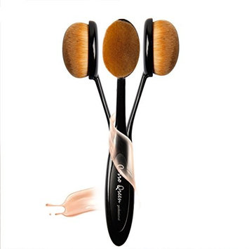HaloVa Makeup Brush, Liquid Powder Cream Foundation Brush, Cosmetic Makeup Tools for Contouring Sculpting Highlighting With Cover, Black