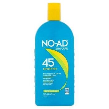 No-Ad Sun Care 45 Sunscreen Lotion SPF 45, 16oz Per Bottle