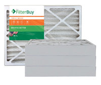 AFB Bronze MERV 6 13x21.5x4 Pleated AC Furnace Air Filter. Filters. 100% produced in the USA. (Pack of 4)