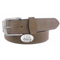NC State Concho Crazyhorse Leather Belt