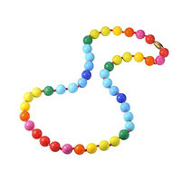 Dolle Baby Teething Necklace for Mom to Wear,Colorful Chew Silicone Teething Toys,100% BPA Free(FBA)