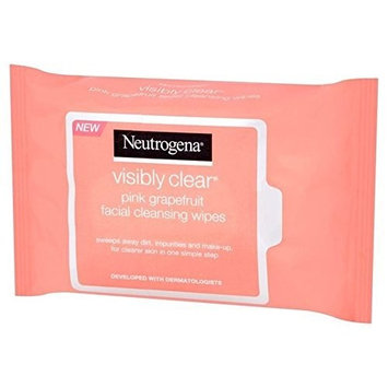 Neutrogena Visibly Clear Pink Grapefruit Wipes 25 per pack (PACK OF 4)