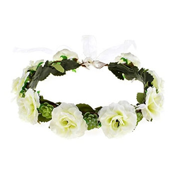 Love Sweety Rustic Succulent Flower Crown Bridal Rose Floral Headband Photo Prop