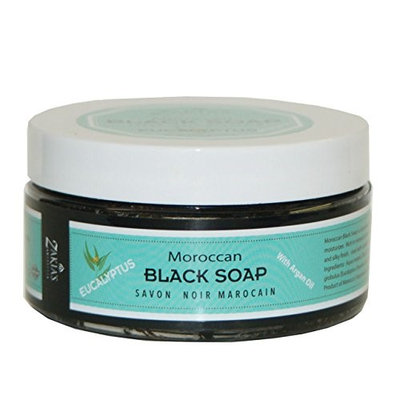 Zakia's Morocco Moroccan Black Soap with Eucalyptus - 8.82 oz