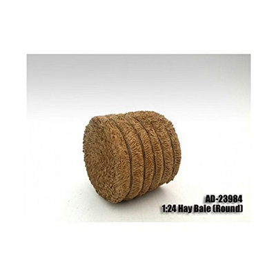 American Diorama 23984 Hay Bale Round Accessory 1-24 Scale Models