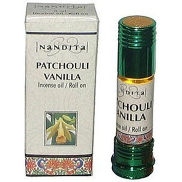1 X Nandita - Patchouli Vanilla Incense Oil / Roll On