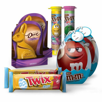 Easter Basket Bundle Candy (8 pack) M&M's Minis Tubes, Dove Dark Chocolate, Twix Egg 2 To Go, M&M's Fun Size Eggs Tin, 2 of EA