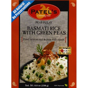 Patels Peas Pulav with Green Peas Basmati Rice, 8.8 OZ (Pack of 10)