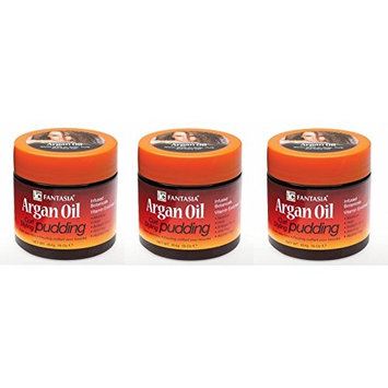 [VALUE PACK OF 3] FANTASIA IC ARGAN OIL CURL STYLING PUDDING 16 OZ : Beauty