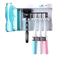 UV Toothbrush Razor Shavor Sanitizing Storage Holder Powered by AC/ Battery (AC Adapter INCLUDED)