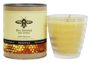 Big Dipper Wax Works - 100% Pure Beeswax Candle Beehive Glass - 4.2 oz.(pack of 3)