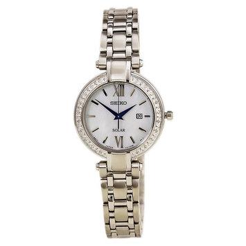 Seiko SUT181 Women's Tressia Conceptual Solar MOP Dial Stainless Steel Diamond Watch