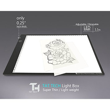 TatTech Tracing Light Box for Designs Stencils and Outlines A3