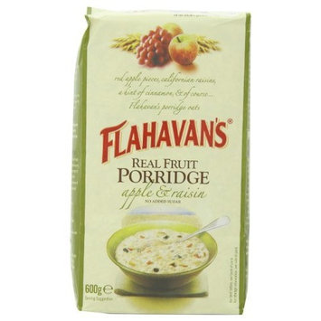 Flahavans Real Fruit Porridge with Apples & Raisins, Whole Grain Oats, 21.16-Ounce Bags (Pack of 4)