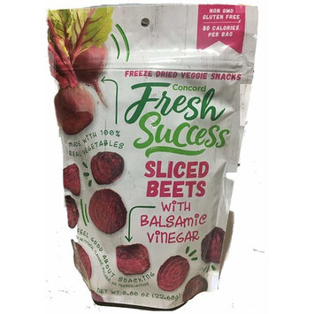 Concord Foods Freeze Dried Sliced Beets with Balsamic Vinegar-3 Packages of .8oz