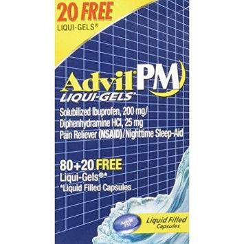Pfizer Advil PM Pain and Nighttime Ibuprofen Sleep Aid Liqui-Gels - 80 Count