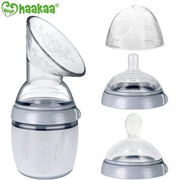 Haakaa Breastpump with Nipple Lid Manual Breast Pump and Spoon 100% Food Grade Silicone 160ml