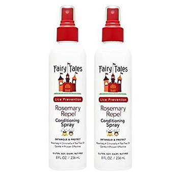 FAIRY TALES Rosemary Repel Lice Prevention Leave-In Conditioning Spray 8 oz, Pack of 2 by Fairy Tales
