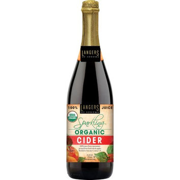 Langer Juice Co. Langers Organic Sparkling Apple Cider, 25.4 Fl Oz, 1 Count