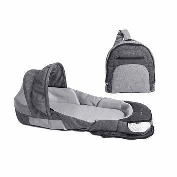 Baby Delight Snuggle Nest Adventure Portable Infant Sleeper   Travel Bed & Bassinet   Canopy and Bug Net Included