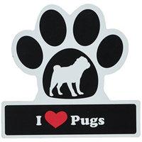 Smart Tag LittleGifts Car Magnet [Pug]