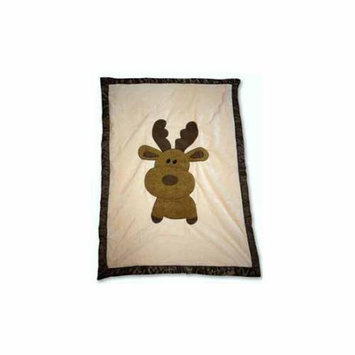 Babymio Mellven the Moose Blanket - Ivory/Brown