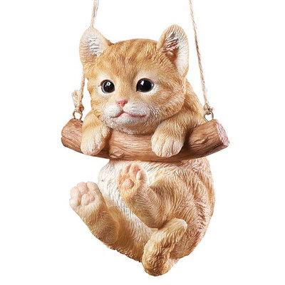 Hang Around Pets Tree Decoration, Tabby Cat