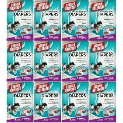 Simple Solution Disposable Diapers X-Small 144ct (12 x 12ct)