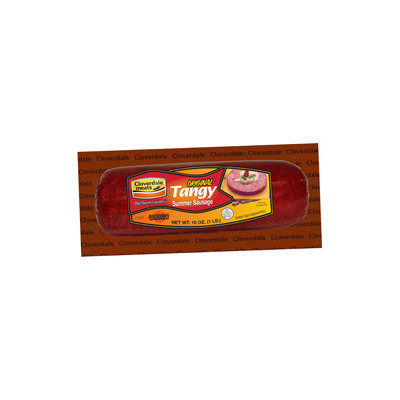 Cloverdale Foods Original Tangy Summer Sausage, Sliced